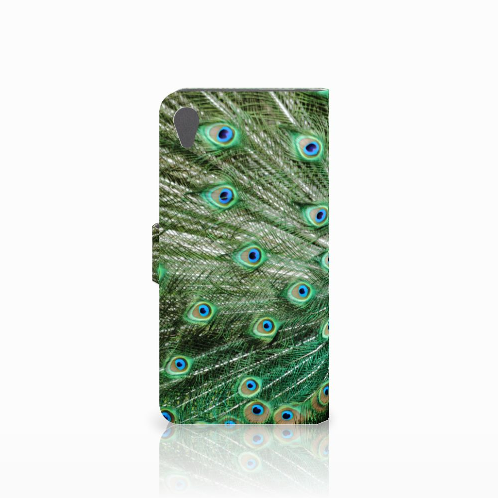 Sony Xperia Z5 Premium Telefoonhoesje met Pasjes Pauw