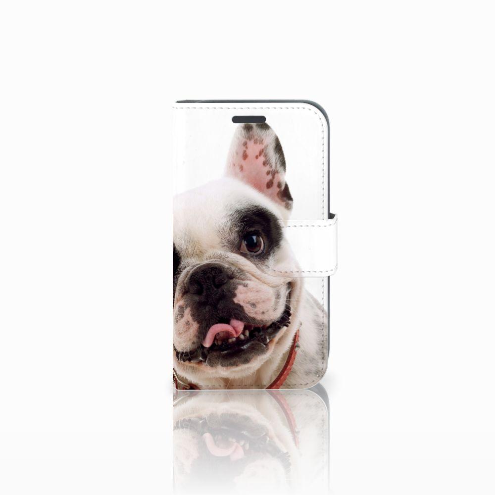 Samsung Galaxy J1 2016 Telefoonhoesje met Pasjes Franse Bulldog