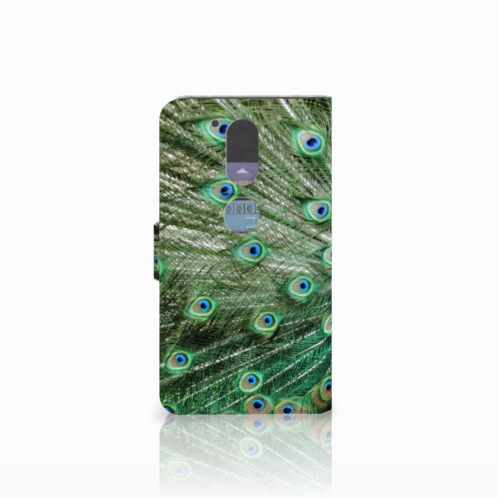 Motorola Moto G4   G4 Plus Telefoonhoesje met Pasjes Pauw