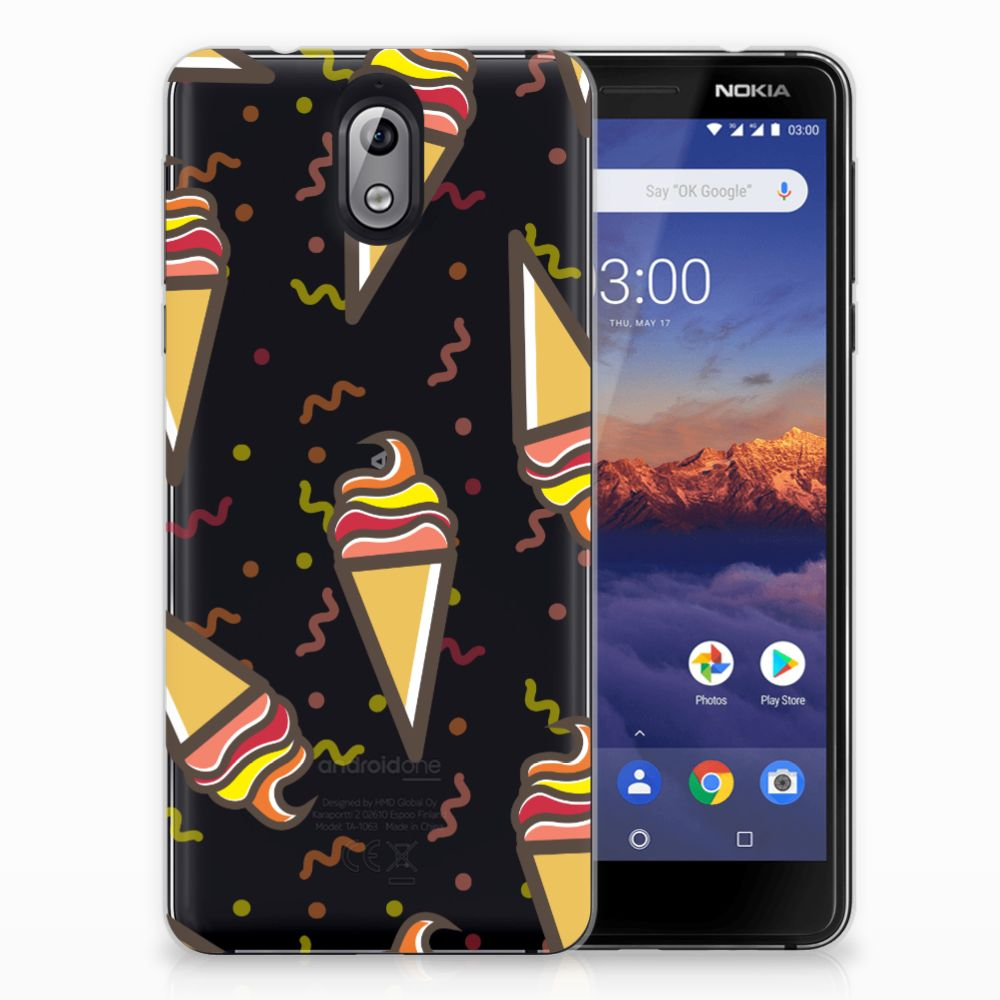 Nokia 3.1 (2018) Siliconen Case Icecream