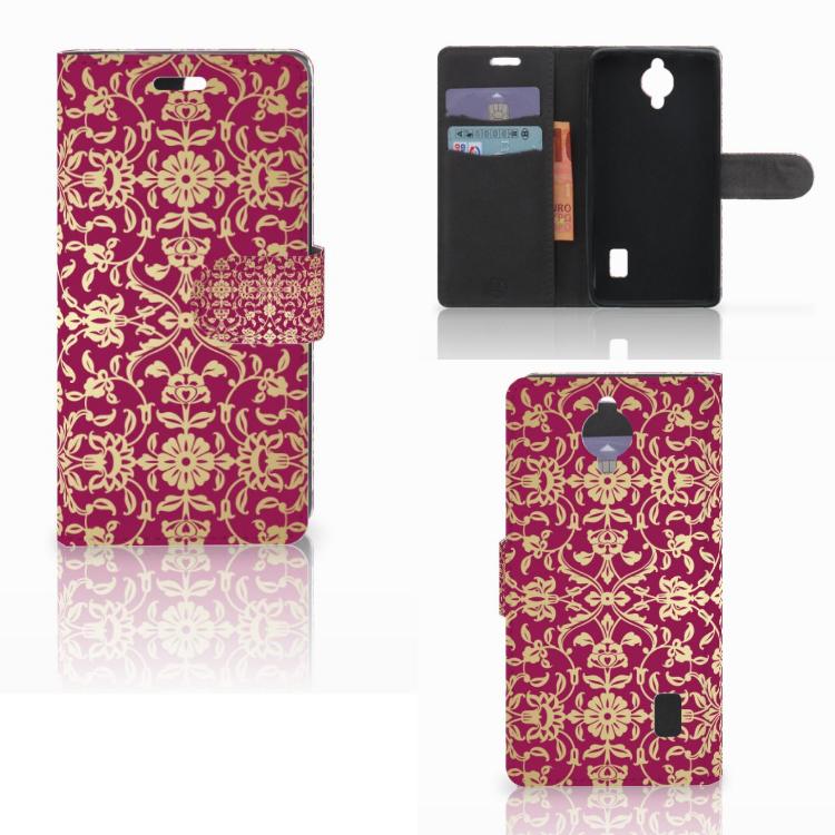 Wallet Case Huawei Y635 Barok Pink