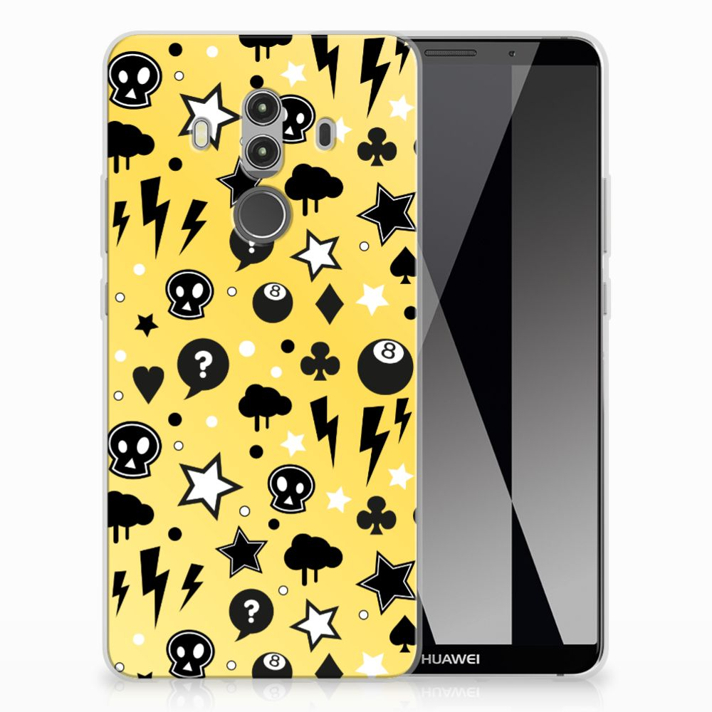 Silicone Back Case Huawei Mate 10 Pro Punk Geel
