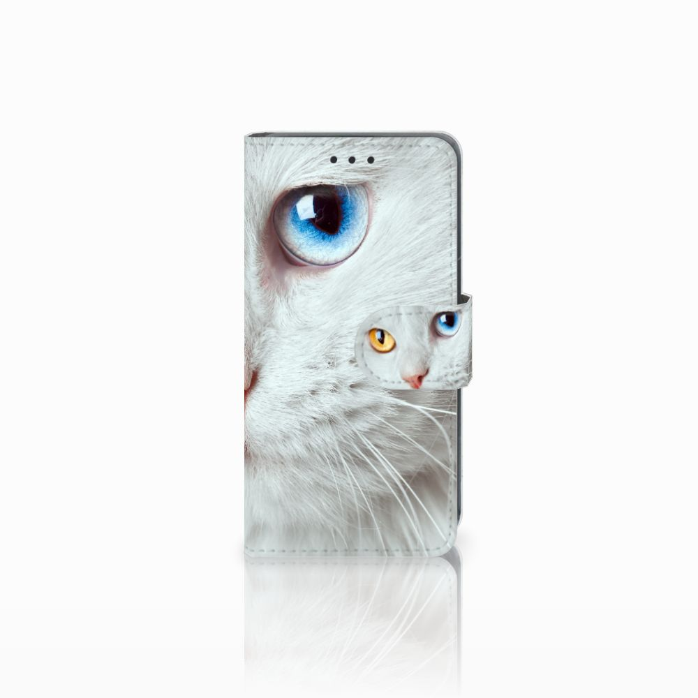 Nokia Lumia 630 Uniek Boekhoesje Witte Kat
