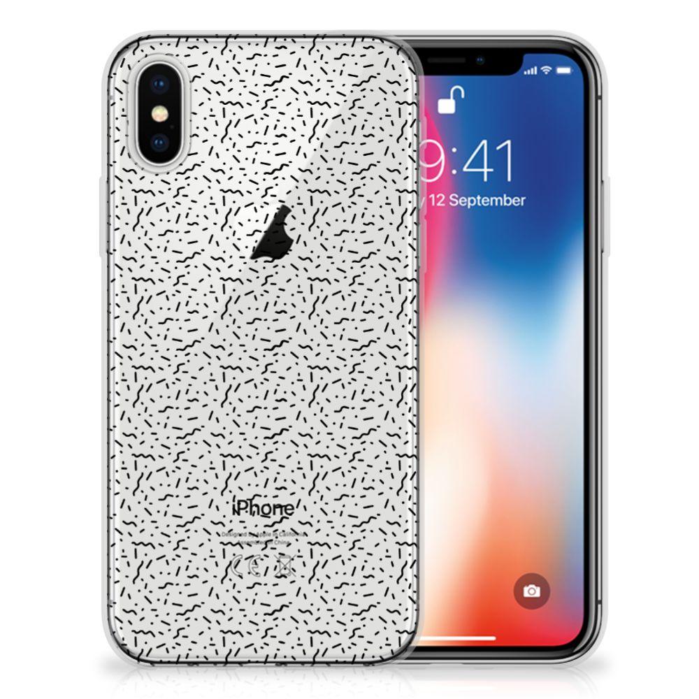 Apple iPhone X | Xs Uniek TPU Hoesje Stripes Dots