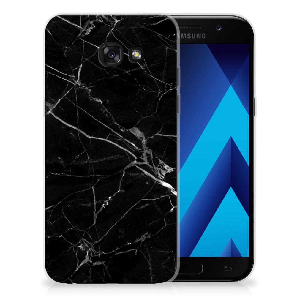 Samsung Galaxy A5 2017 TPU Siliconen Hoesje Marmer Zwart - Origineel Cadeau Vader
