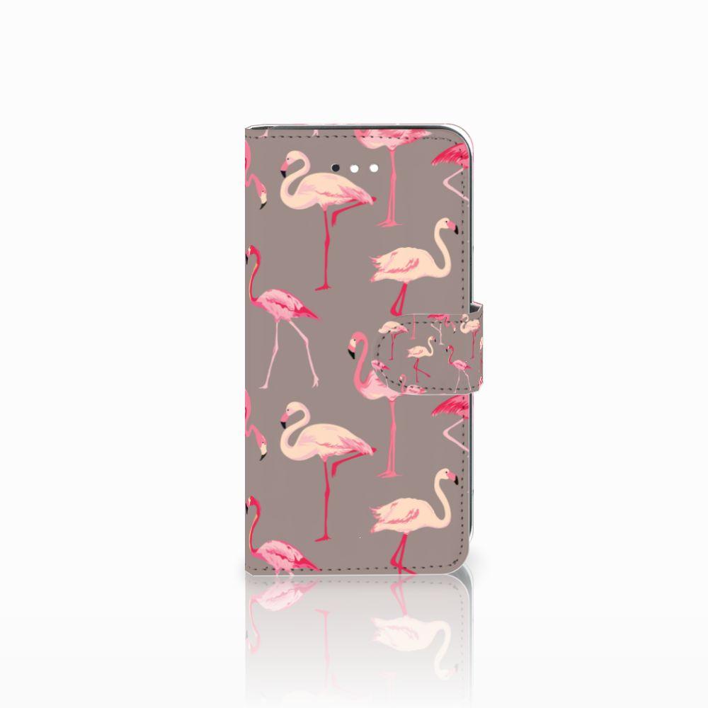 LG K11 Uniek Boekhoesje Flamingo