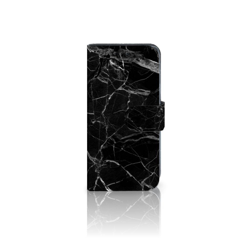 Samsung Galaxy J3 2017 Uniek Boekhoesje Marmer Zwart