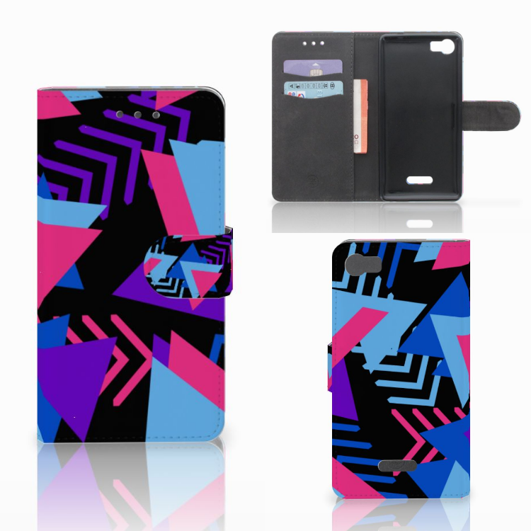 Wiko Fever (4G) Bookcase Funky Triangle