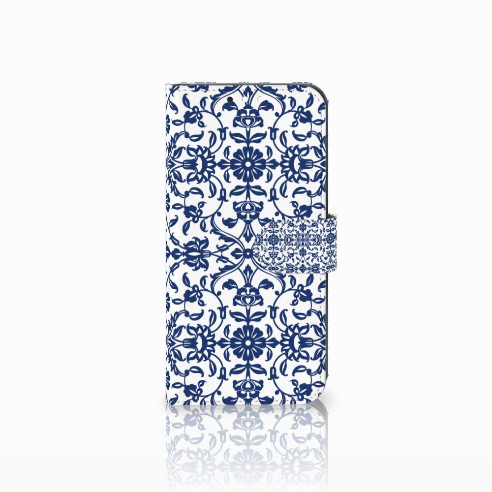 Huawei Mate 10 Lite Boekhoesje Flower Blue