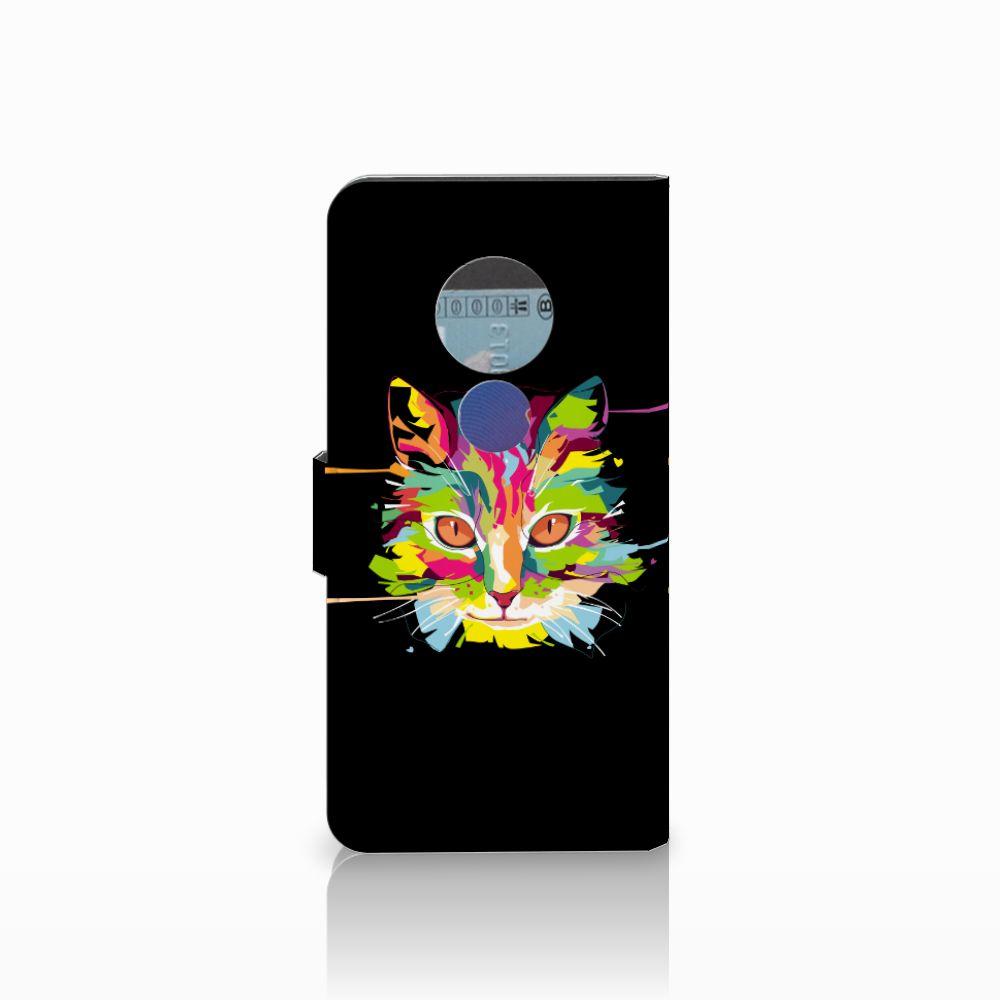 Motorola Moto E5 Leuke Hoesje Cat Color