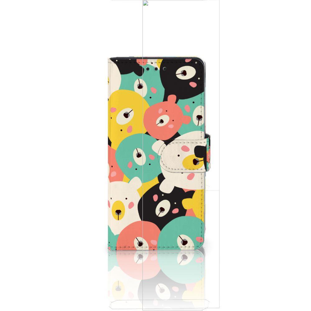 Huawei Ascend P8 Lite Uniek Boekhoesje Bears