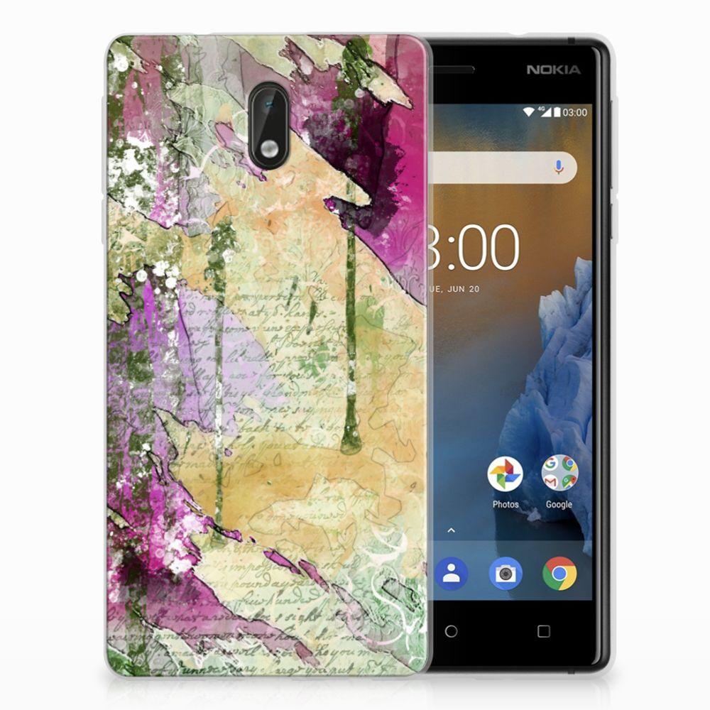 Nokia 3 Uniek TPU Hoesje Letter Painting