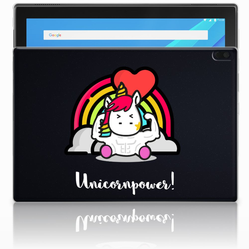Lenovo Tab 4 10.1 Uniek Tablethoesje Unicorn Power