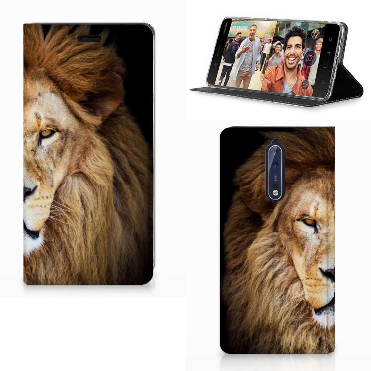 Nokia 8 Uniek Design Hoesje Leeuw