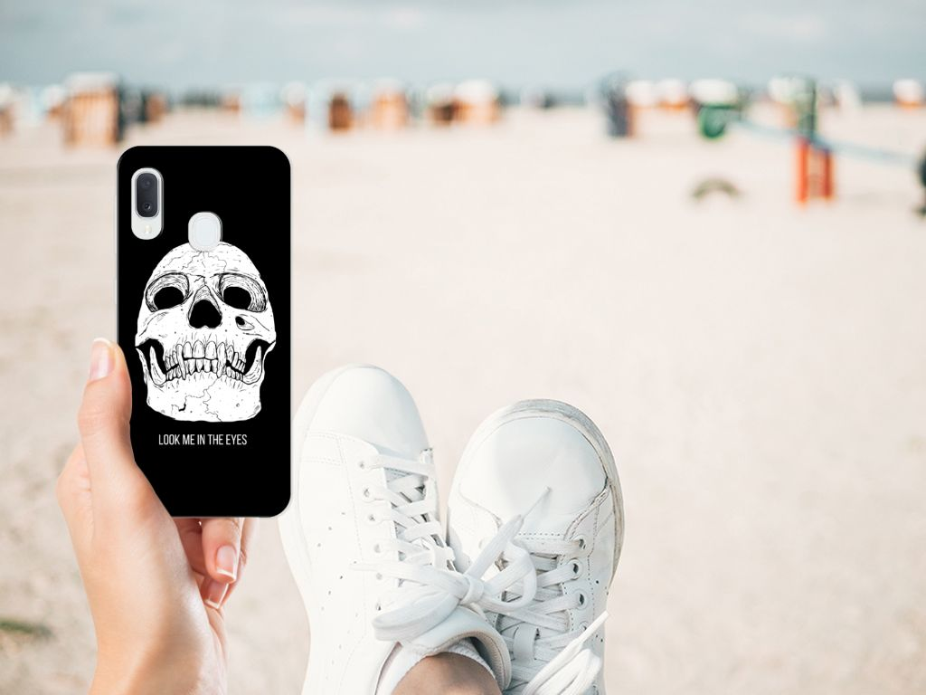 Silicone Back Case Samsung Galaxy A20e Skull Eyes