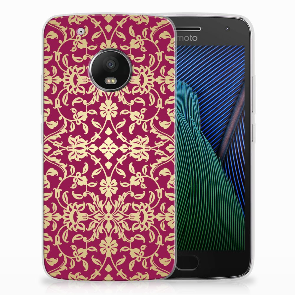 Siliconen Hoesje Motorola Moto G5 Plus Barok Pink