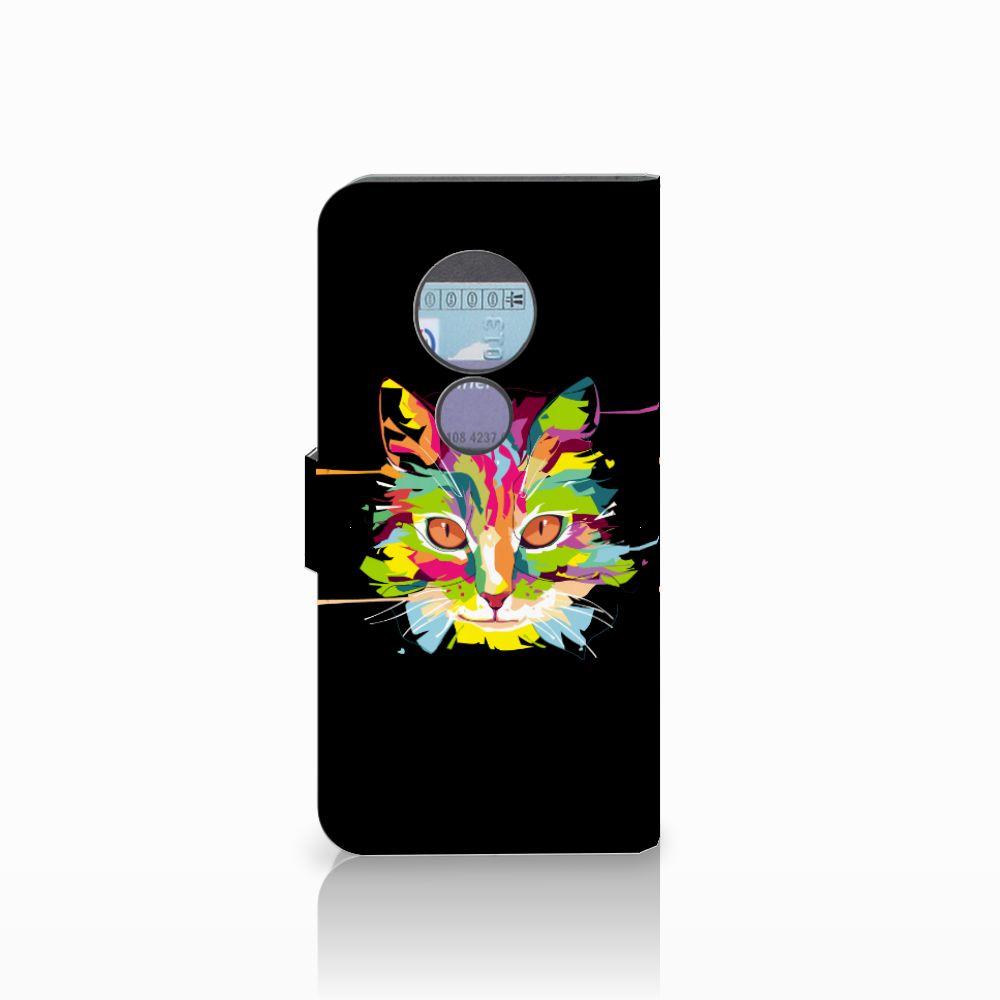 Motorola Moto G6 Play Leuke Hoesje Cat Color