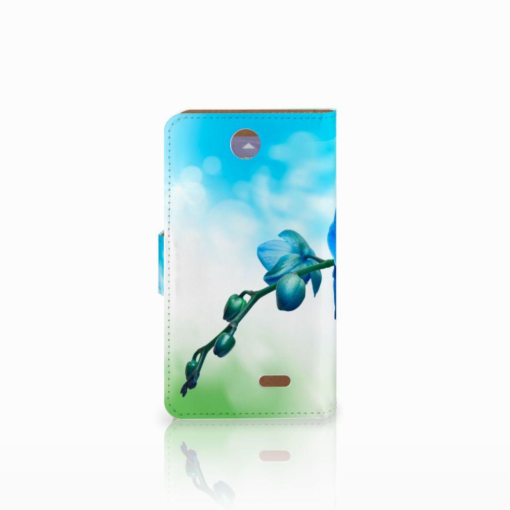 HTC Desire 310 Hoesje Orchidee Blauw