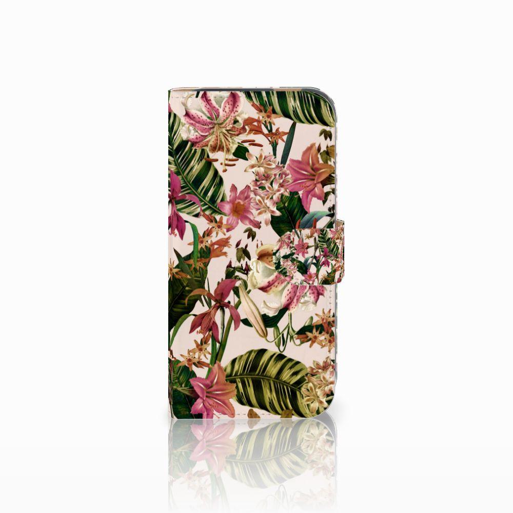 HTC One M8 Uniek Boekhoesje Flowers