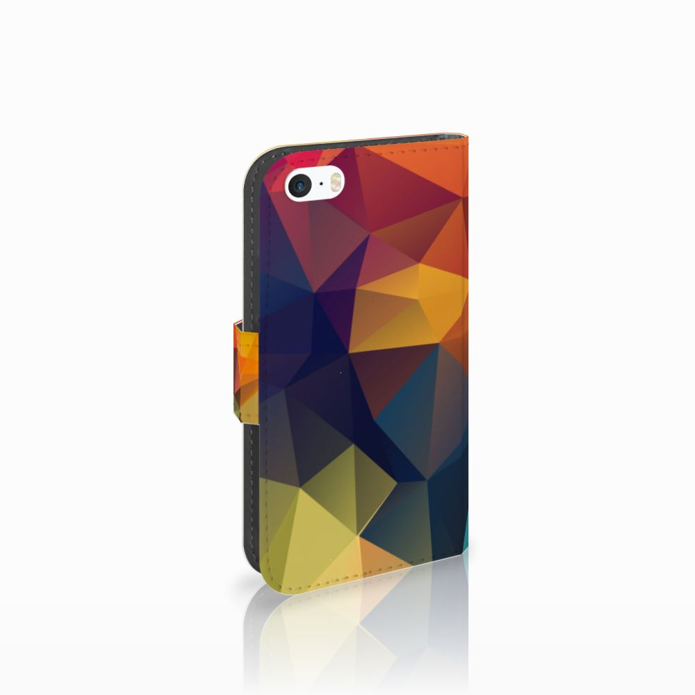 Apple iPhone 5 | 5s | SE Boekhoesje Design Polygon Color