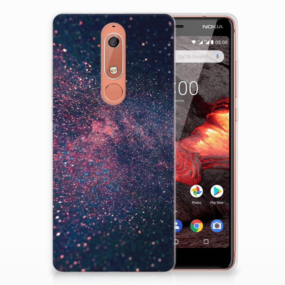 Nokia 5.1 (2018) TPU Hoesje Stars