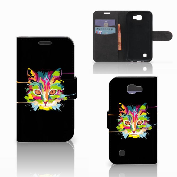LG K4 Leuke Hoesje Cat Color
