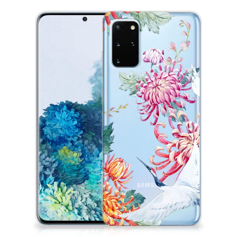 Samsung Galaxy S20 Plus TPU Hoesje Bird Flowers