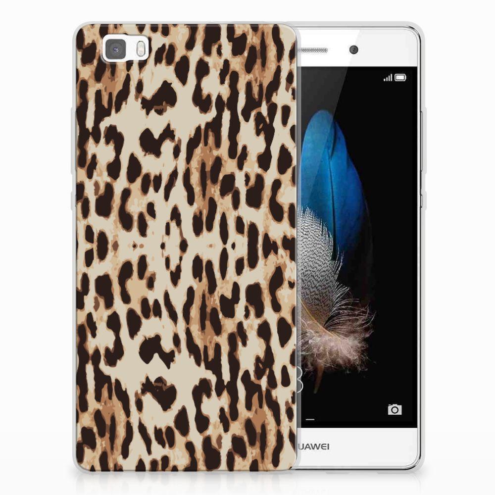 Huawei Ascend P8 Lite Uniek TPU Hoesje Leopard