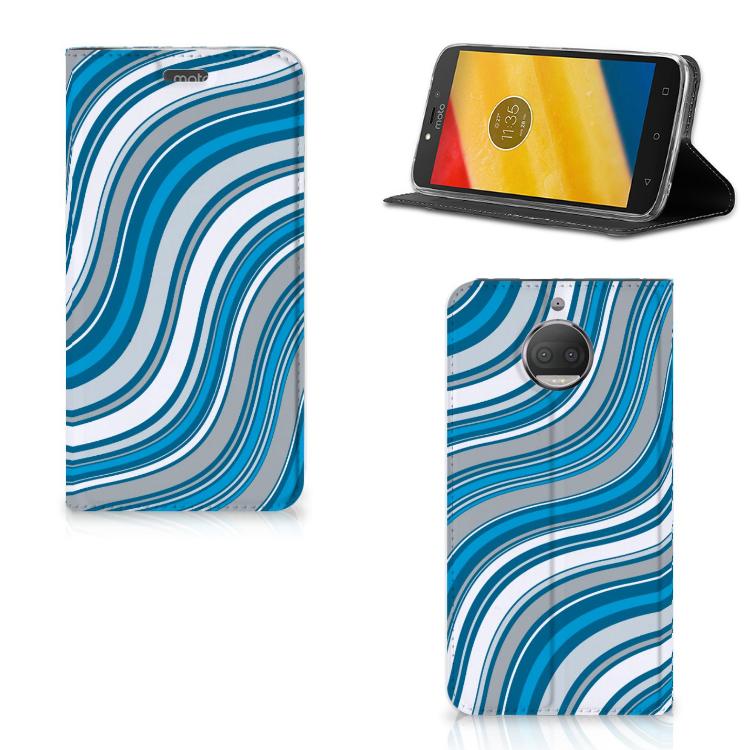 Motorola Moto G5S Plus Hoesje met Magneet Waves Blue