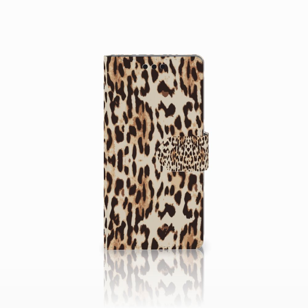 Sony Xperia M4 Aqua Uniek Boekhoesje Leopard