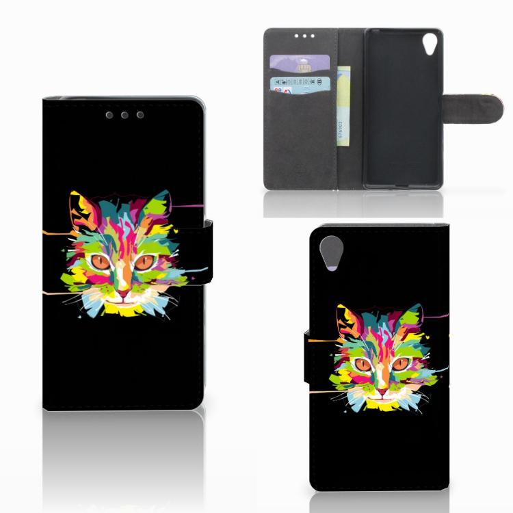 Sony Xperia X Leuke Hoesje Cat Color