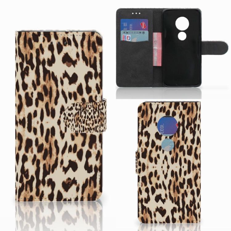 Motorola Moto G7 Play Telefoonhoesje met Pasjes Leopard