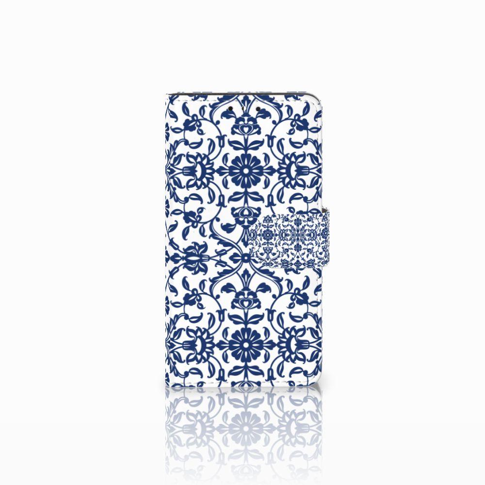 Huawei Y5 | Y6 2017 Uniek Boekhoesje Flower Blue
