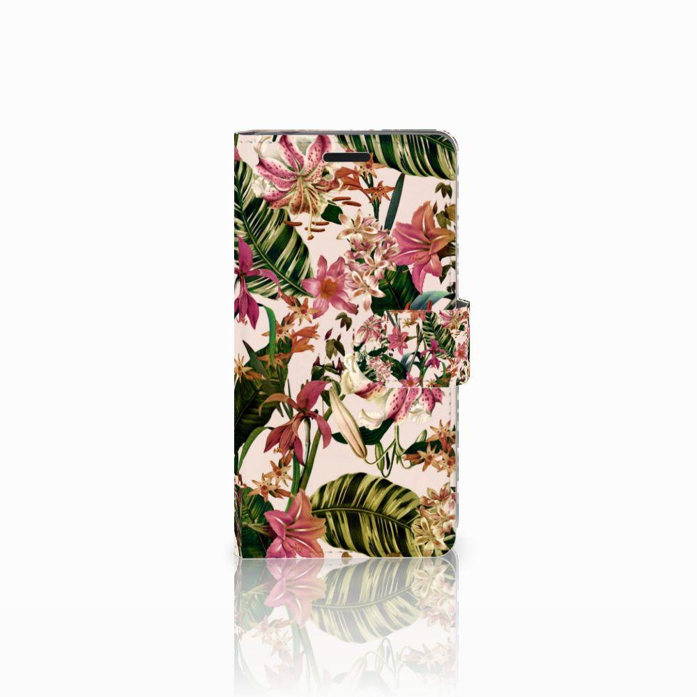 Sony Xperia E3 Uniek Boekhoesje Flowers