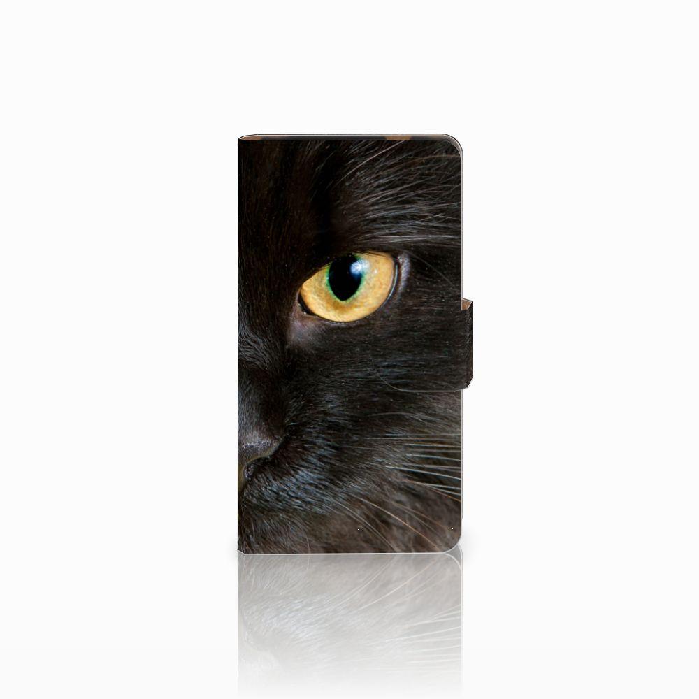 HTC Desire 601 Uniek Boekhoesje Zwarte Kat