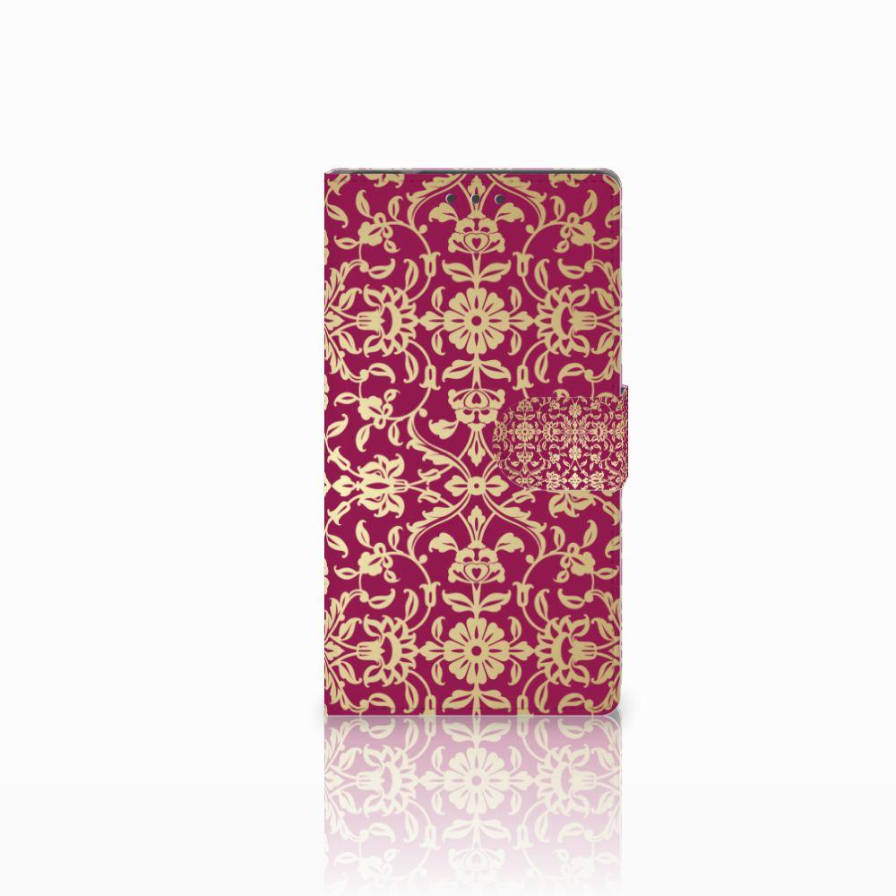 Samsung Galaxy Note 4 Boekhoesje Design Barok Pink