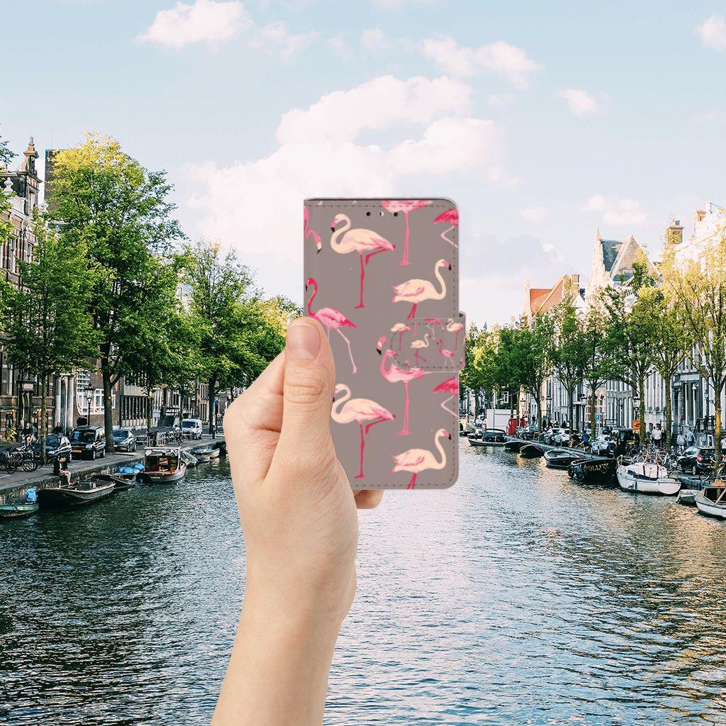 Huawei Y5 | Y6 2017 Telefoonhoesje met Pasjes Flamingo