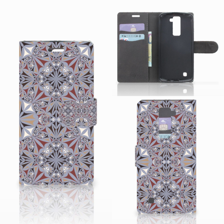LG K10 2015 Bookcase Flower Tiles