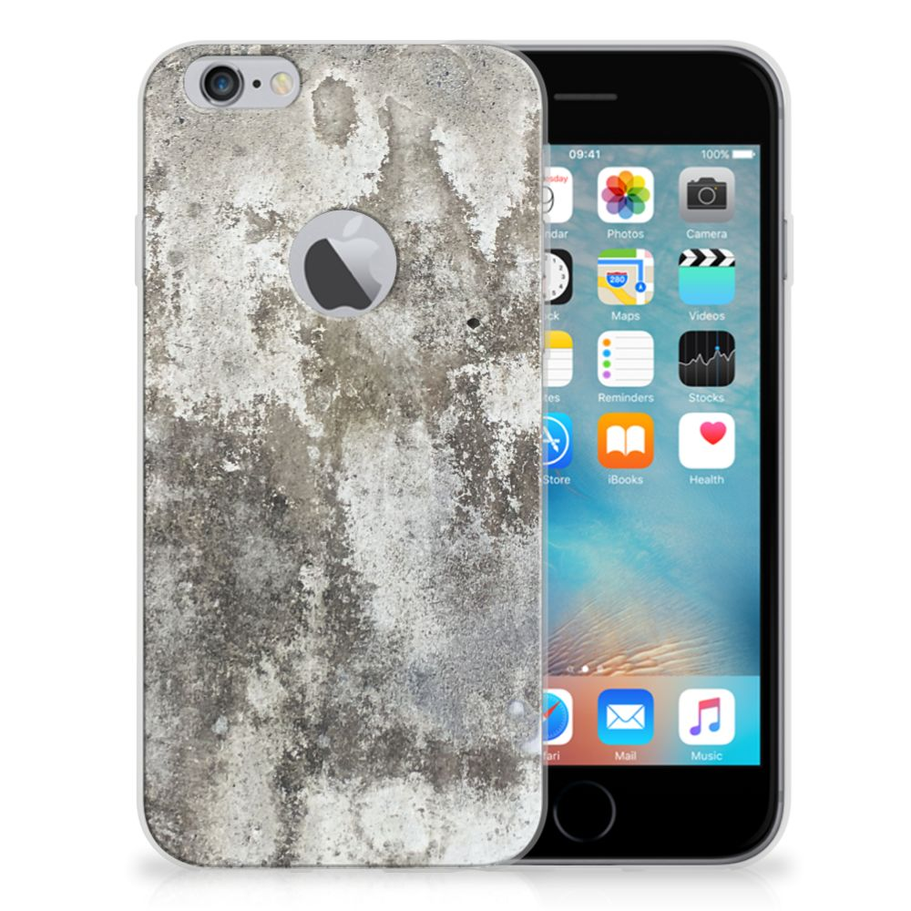 Apple iPhone 6 Plus | 6s Plus TPU Siliconen Hoesje Beton Print