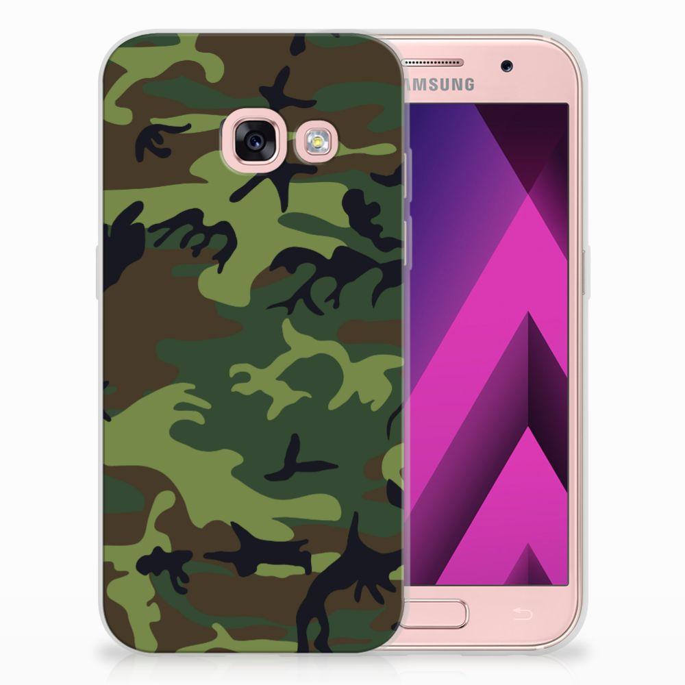 Samsung Galaxy A3 2017 TPU Hoesje Design Army Dark