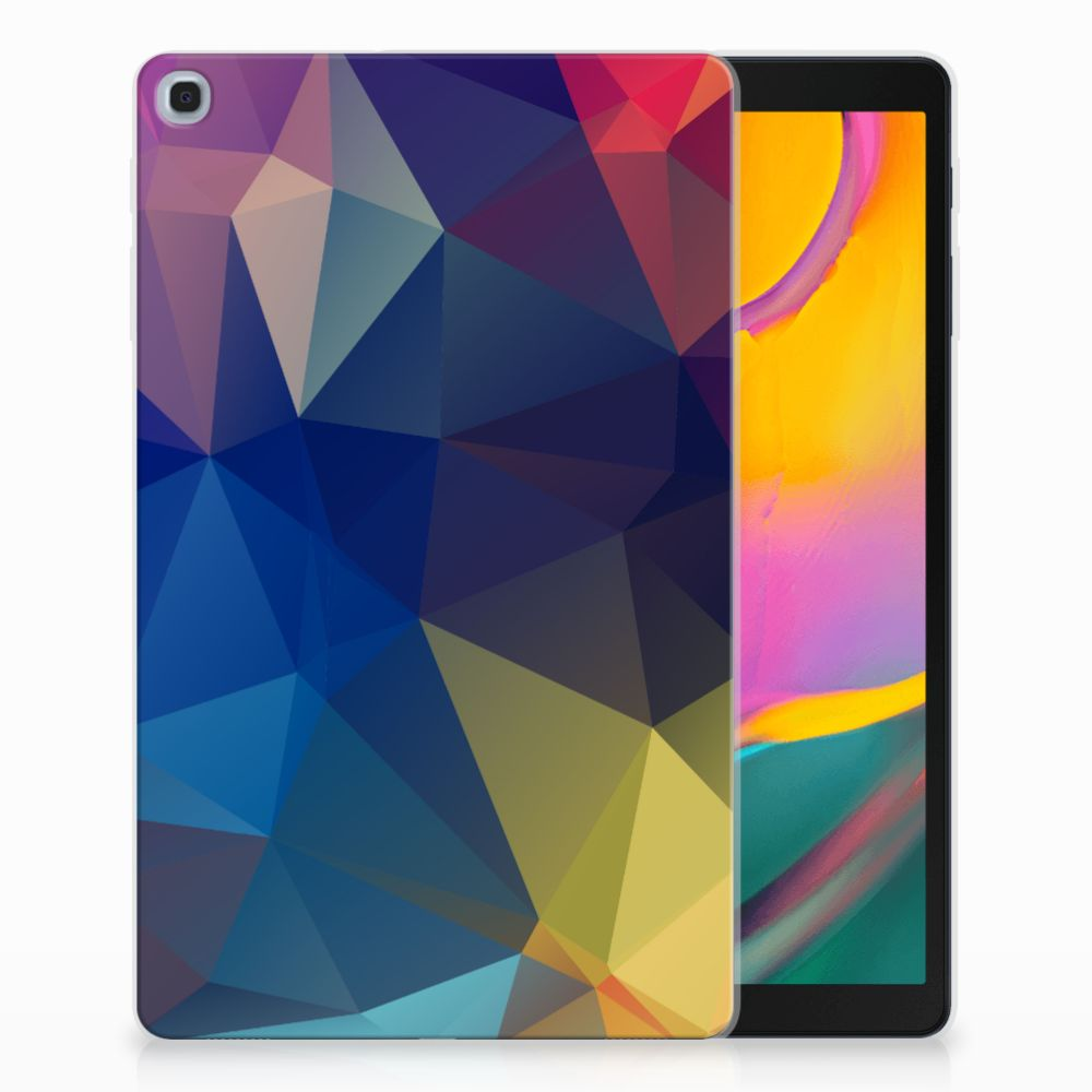 Samsung Galaxy Tab A 10.1 (2019) Back Cover Polygon Dark
