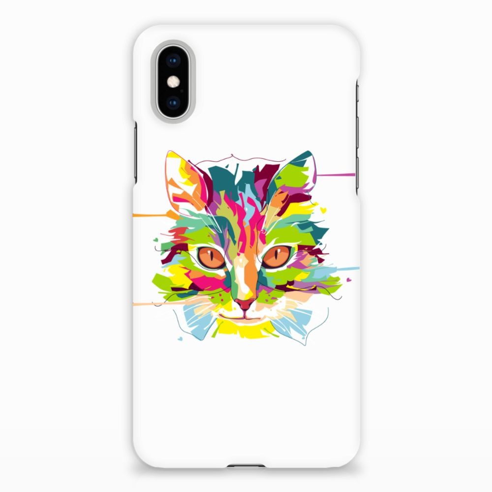 Apple iPhone X | Xs Uniek Hardcase Hoesje Cat Color