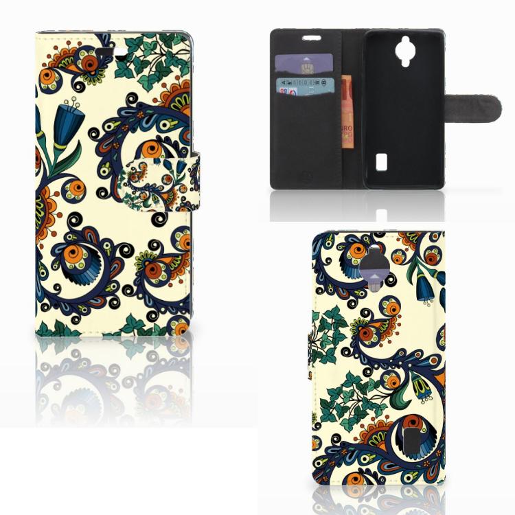 Wallet Case Huawei Y635 Barok Flower
