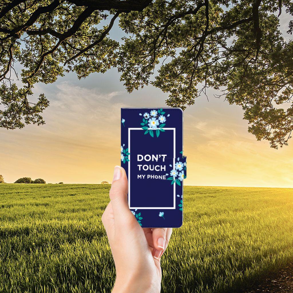 Huawei Ascend P8 Lite Boekhoesje Flowers Blue DTMP