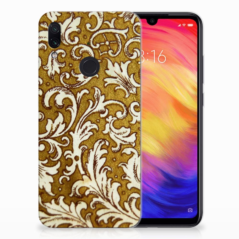 Siliconen Hoesje Xiaomi Redmi Note 7 Barok Goud