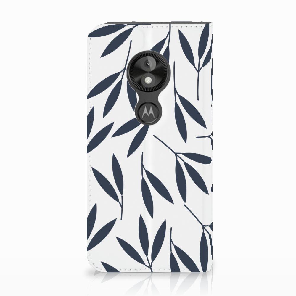Motorola Moto E5 Play Standcase Hoesje Design Leaves Blue