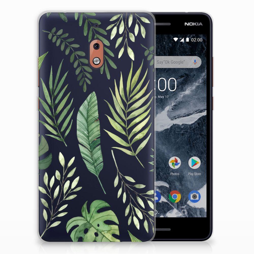 Nokia 2.1 (2018) Uniek TPU Hoesje Leaves