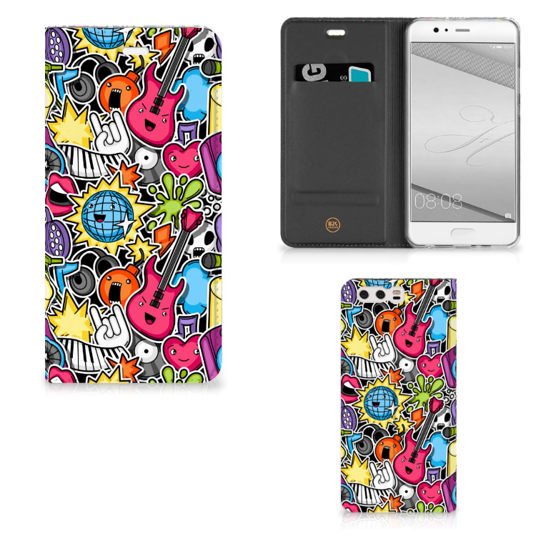Huawei P10 Plus Hippe Standcase Punk Rock