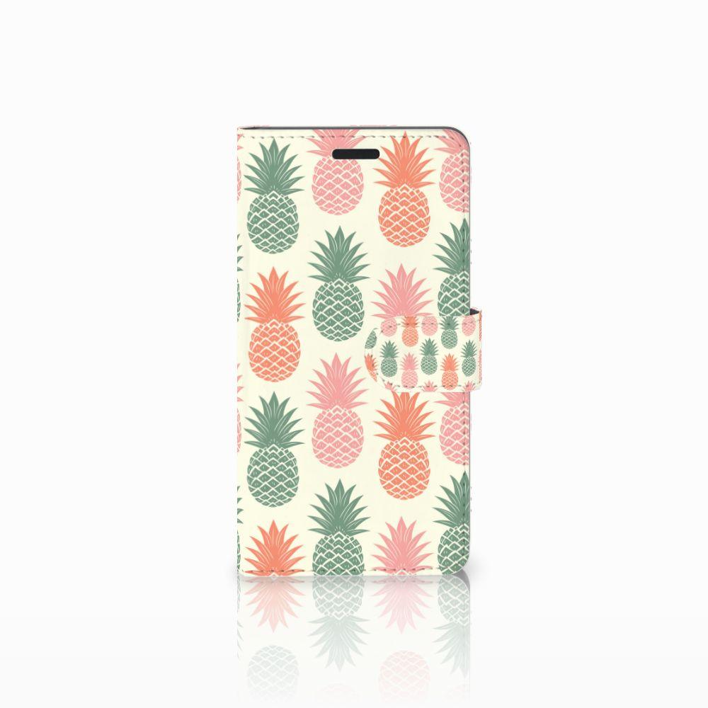 Samsung Galaxy A7 2015 Boekhoesje Design Ananas