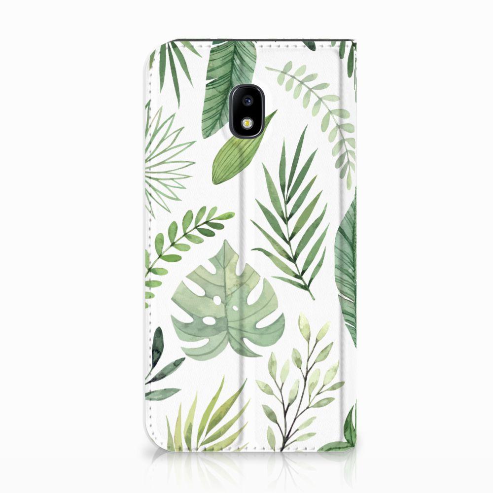 Samsung Galaxy J3 2017 Uniek Standcase Hoesje Leaves